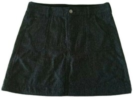 Woolrich Skirt Size 14 Black Wool Blend Above Knee Casual Winter Holiday - £15.22 GBP