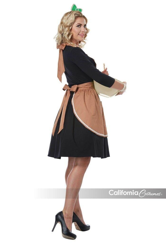 California Costumi Pan di Zenzero Grembiule Adulto Donna Natale Costume 01497 image 2
