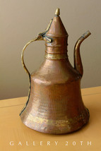 WOW! PRIMITIVE HAND HAMMERED COPPER VESSEL! PITCHER CARAFE VASE JUG VTG ... - $770.00