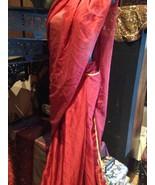 Vintage Handgemacht Einteiler Fertige Sari Burgund - $222.71