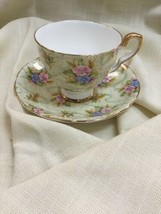 Vintage Royal Stafford Bone China Cup & Saucer - Elizabeth Pattern - $23.22