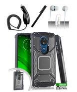 Motorola Moto G7 Power Gray Jacket Hybrid Dual Layer Metal Plate Magneti... - $13.99