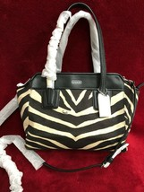 Coach Taylor Bette Zebra Mini Tote in Black/Cream Canvas - Style 28461 -... - $118.79