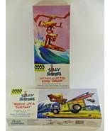 (2) Hawk Classics Silly Surfers Plastic Model Kit Riding Tandem & Woodie... - $23.64