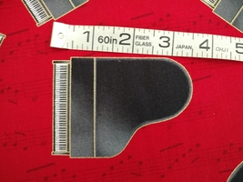 1/2 yd music/piano/keyboard on red quilt fabric -free shipping image 5