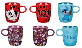 Disney Store Coffee Mug Stitch Jack Skellington 101 Dalmatians Patch 2018 - $89.37