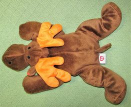 "16"" TY BEANIE BUDDY CHOCOLATE THE MOOSE PLUSH STUFFED ANIMAL BROWN ORANG... - $18.70"