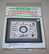 "Bucilla Merry Christmas Sampler 11"" x 14"" Counted Cross Stitch Kit 82311 New - $12.82"