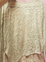 WOMANS H&M LONG SLEEVE TAN SMALL TOP NWT - $14.00