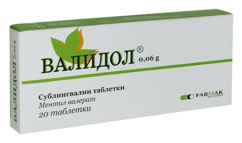 VALIDOL ANTI STRESS, CALMING, SEDATIVE, ANXIETY, NEUROSES, ORIGINAL 2 x 20 TABS