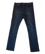 Forever 21 Mens Size 34 x 32 Skinny Slim Ripped Blue Denim Jeans - $12.86