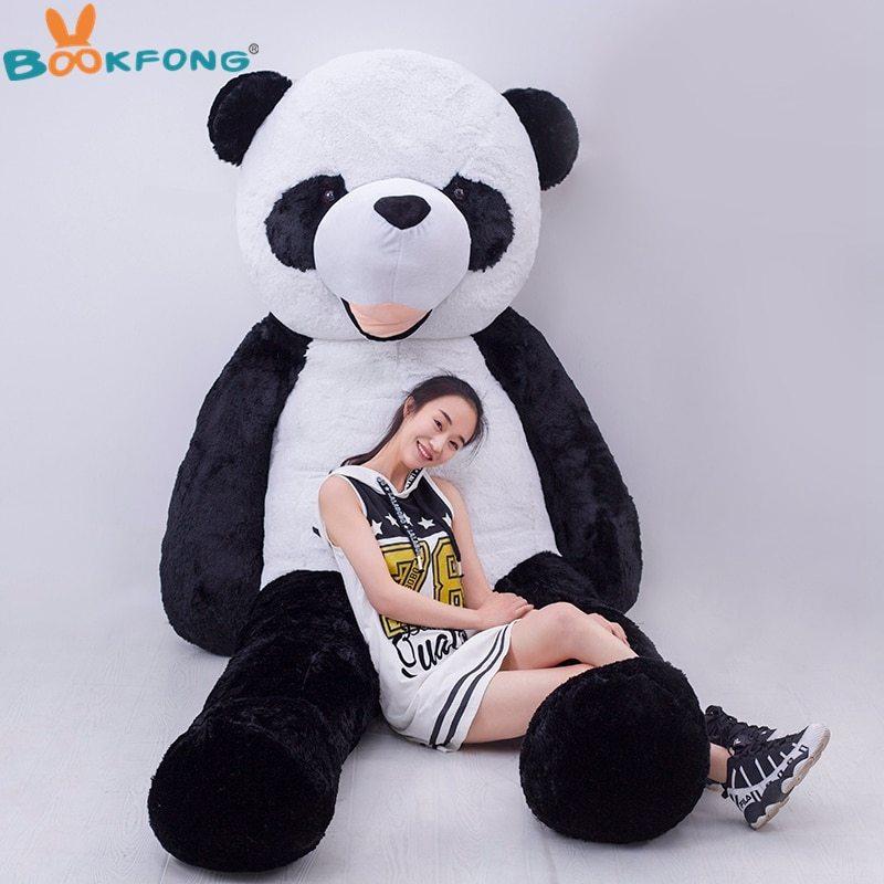 180cm giant empty panda skin plush toys doll not pp stuffed inside panda toy kawaii children