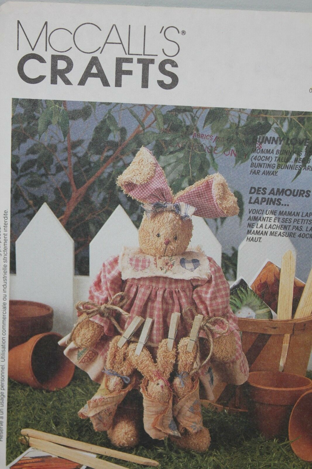 Primary image for McCalls Crafts Bunny Love 6922 Uncut