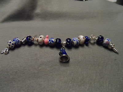 Authentic Pandora bracelet with Disney Mickey Sorcerer's Hat Theme (#3)