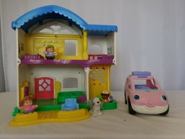 Fisher Price 2006 Little People Busy Day Doll House Works Sounds + Peopl... - $32.69
