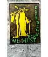 Star War's Yoda Social Distance Art - $49.50
