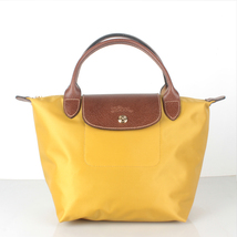 Longchamp Le Pliage Small Short Handel Nylon Handbag Yellow 1621089432 - $75.00