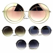 Womens Retro Round Luxury Hippie Circle Lens Sunglasses - £10.00 GBP