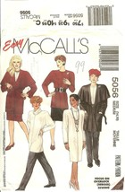 McCall's 5056 Misses' Wrap-Jacket Dress Top Tie Belt Cowl Skirt & Pants 14-16 FF - $12.47