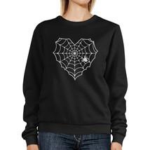 Heart Spider Web Black Sweatshirt - $20.99+