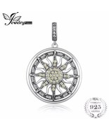 JewelryPalace 925 Sterling Silver Yellow White CZ Sun Pendant Necklace [... - $23.76