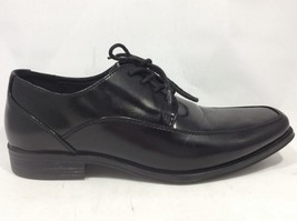 Dexter Comfort Mens Oxford Black Dress Shoes Apron Toe 162313 Size 8.5 - $21.83
