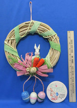 Easter Bunny Grapevine Wreath In Natural With Carrots & Eggs Plus Bunny ... - €10,44 EUR