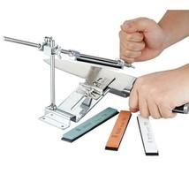 Knife Sharpener Sharpening Kitchen Stone Grit Blade Whetstone New Edge S... - $36.62