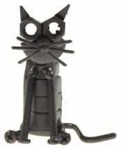 Handcrafted Collectible Art Sculpture Cat Kitten Figurine Recycled Metal... - $16.49