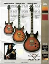 Robben Ford Signature Fender Ultra Elite FM & SP guitar advertisement ad print - $4.95