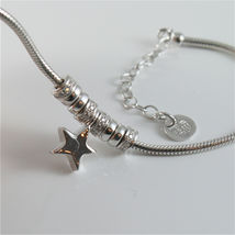 925 RHODIUM SILVER JACK&CO BRACELET WITH SHINY STAR STARLET MADE IN ITALY 7.5 IN image 3