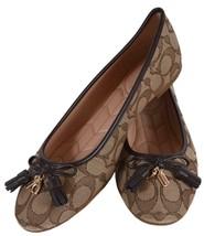 NEW Coach Women's FG2708 Signature BENNI Jacquard Ballet Flats Shoes 9 - $106.92