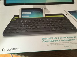 NEW LOGICOOL Bluetooth multi-device keyboard black k480  Shipping included - $88.11