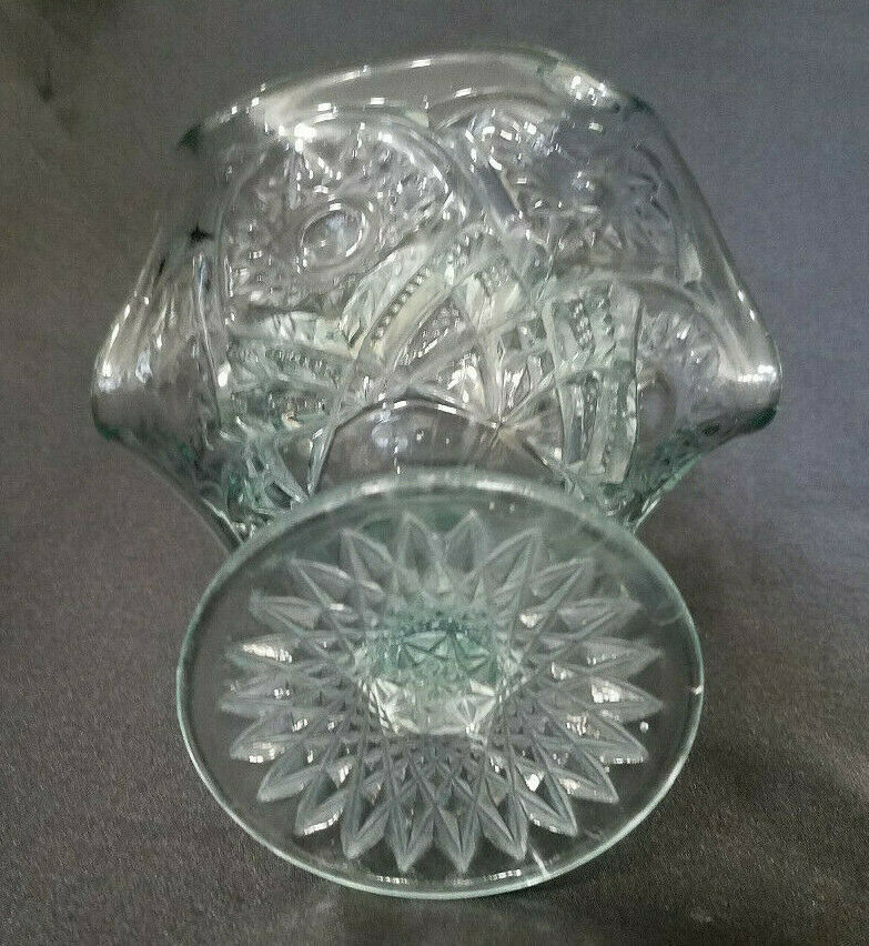 RARE! Antique Imperial Glass Hobstar and Arches Open Pedastal Jam/Jelly, 1909