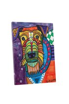 "Pingo World 0708QAZ8ELS ""Heather Galler Airedale Dog"" Gallery Wrapped Canvas Wal - $43.51"