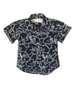 Old Navy 2T Printed Navy Blue Button-Front Shirt Toddler Boy Clothes - £10.41 GBP