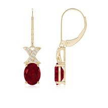 2.9tcw best AAA Natural Garnet Diamond Leverback Drop Earrings Gold/Plat... - $701.10