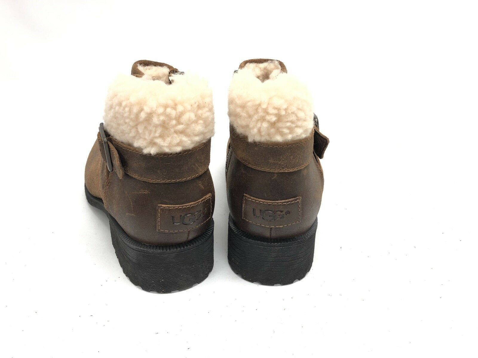 UGG Australia BENSON Buckle Sheepskin Ankle Booties 1095151 Chipmunk Waterproof image 9