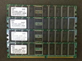 4 Go 4x1go Samsung M312l2920bts-cb0q0 DDR Pc2100r-25331-z Mémoire de Ser... - $43.87