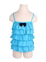 Beautiful Baby Girl Swimsuit Lovely Siamesed Swimsuit Blue 2~3Y