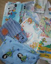 Vintage Bedding Lot Fabric Cartoons Disney Japan Animé Wally Gator - $68.00
