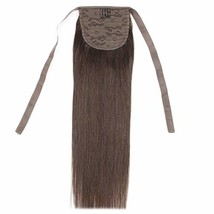 "16"" Straight Drawstring Ponytail Hair Extensions Human Hair Ponytail Ext... - $39.12"