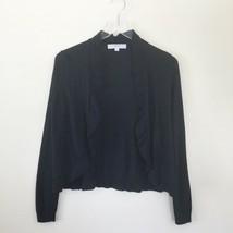 Ann Taylor LOFT Women`s Size M/P Back Open Front Ruffle Open Cardigan Sweater - $27.72