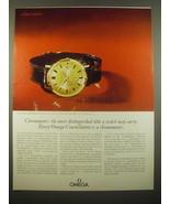 1966 Omega Watch Advertisement - Constellation Model BA 168 5014 - $14.99