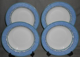 Set (4) MIKASA Fine China SUSANNE PATTERN Rimmed Soup Bowls MADE IN PORT... - $39.59