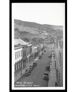 Central City Real Photo Postcard Colorado Main Street Storefronts Cars 1... - $19.99