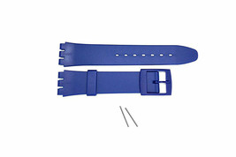 17mm Vintage Swatch Watch Blue PVC Rubber Watch Band Fits Calypso Diver ... - $14.95