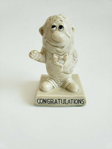 1970 Unbreakable Russ Wallace Berrie & Co Figurine Made In Usa Congratulations - $9.41