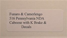 Funaro & Camerlengo HO PRR NDA Caboose w/ K Brake kit 516 image 3