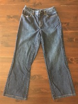 Talbots Womens Jeans Size 10 Stretch Denim Boot Cut Dark Wash 26x29 - $18.50